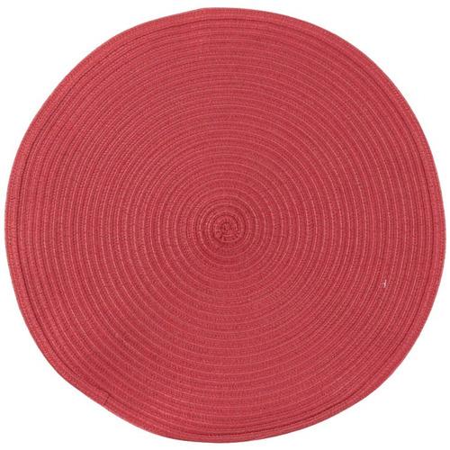 jogo americano vermelho cada avulso 37,5cm redondo hauskraft para comida jantar bom acabamento