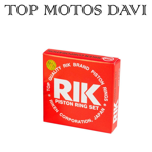 jogo anel pistão rik moto honda cg today 125 92/99 std