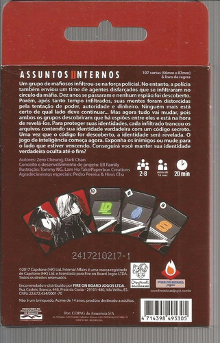 jogo assuntos internos internal affairs - bonellihq l18