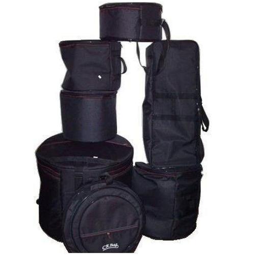 jogo bag bateria luxo 7 peças estofadas capas crbag fusion