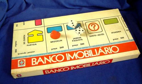 jogo banco imobiliario antigo estrela anos 80