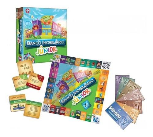 jogo banco imobiliário junior - infantil - original estrela