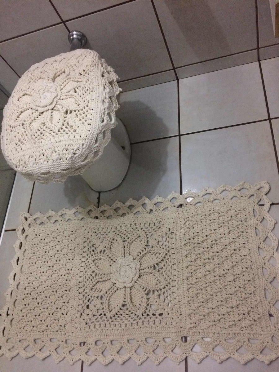 4f1b8c8ed jogo banheiro de croche 2 peças. Carregando zoom.