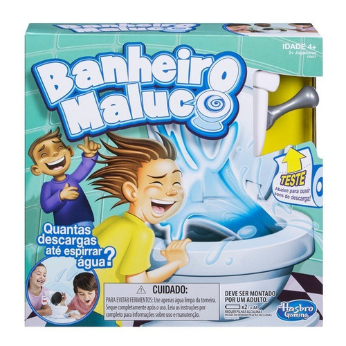 jogo banheiro maluco - hasbro c0447