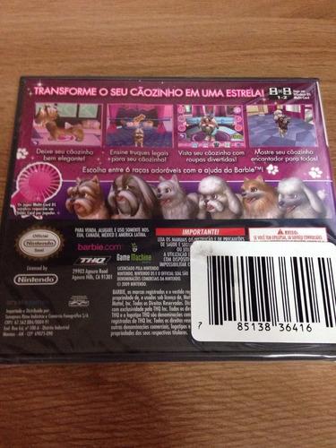jogo barbie groom and glam pups - ds - em português