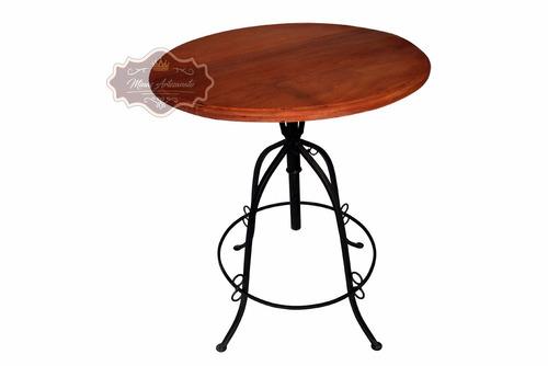 jogo bistro - 1 mesa tampo 70 cm + 6 banquetas