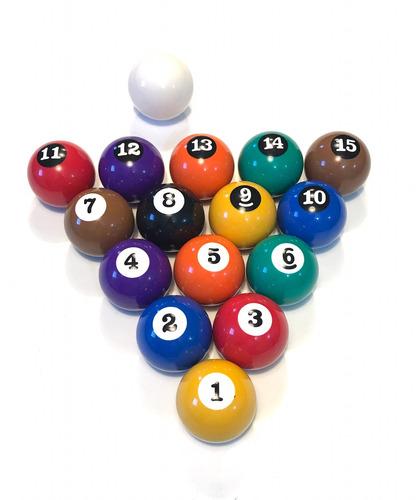 jogo bolas de bilhar / sinuca / snooker 50mm