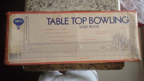 jogo boliche antigo table top bowling solid wood no estado