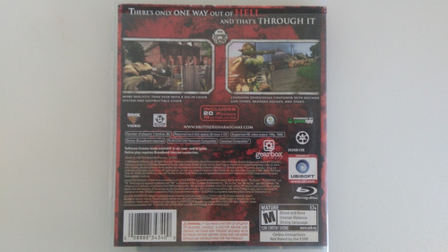 jogo brothers in arms hell's highway do ps3 original