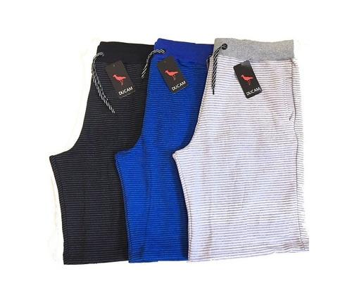 jogo c 5 bermudas moletom marca shorts de academia  fit