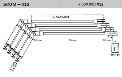 jogo cabos vela corsa montana prisma meriva celta 93235772