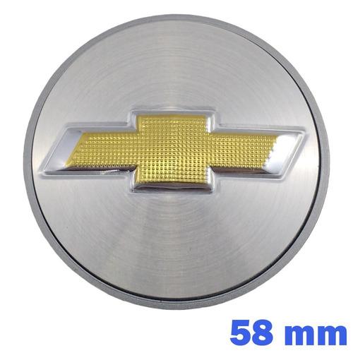 jogo calota centro meio roda prata vectra meriva astra 58mm