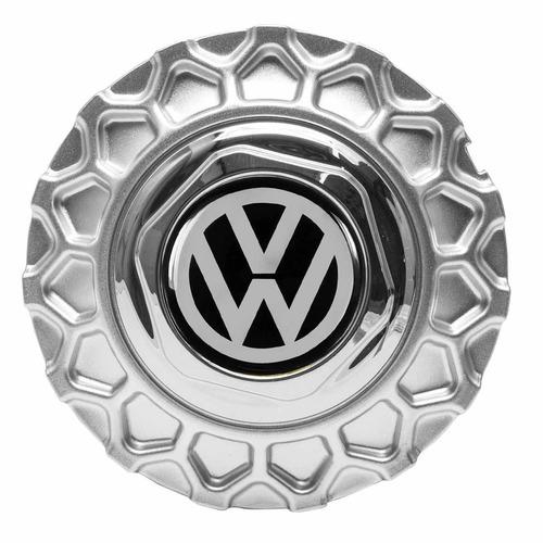 jogo calota miolo roda brw900 bbs prata com emblema vw