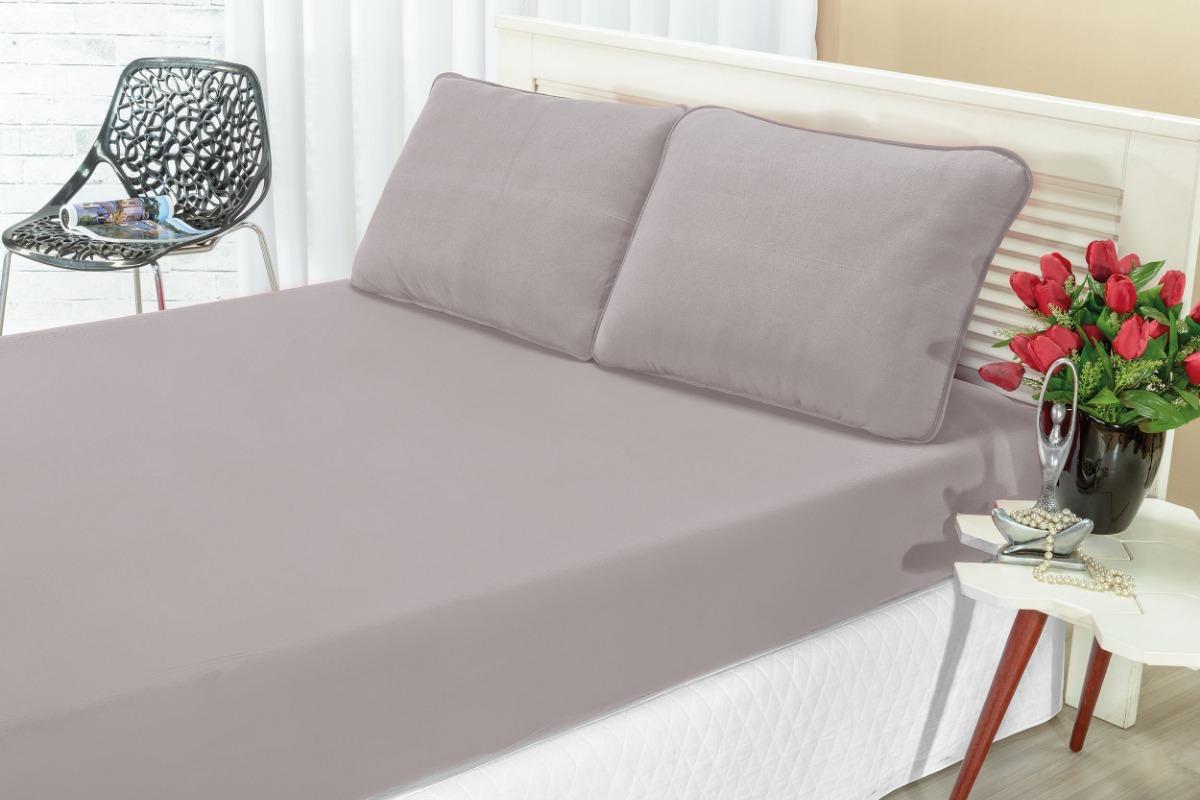 f9eceaaf80 jogo cama casal 3 peças malha liso de elástico quality. Carregando zoom.
