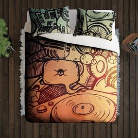 939cee0e3f Roupa De Cama Com Notas Musicais - Roupa de Cama no Mercado Livre Brasil