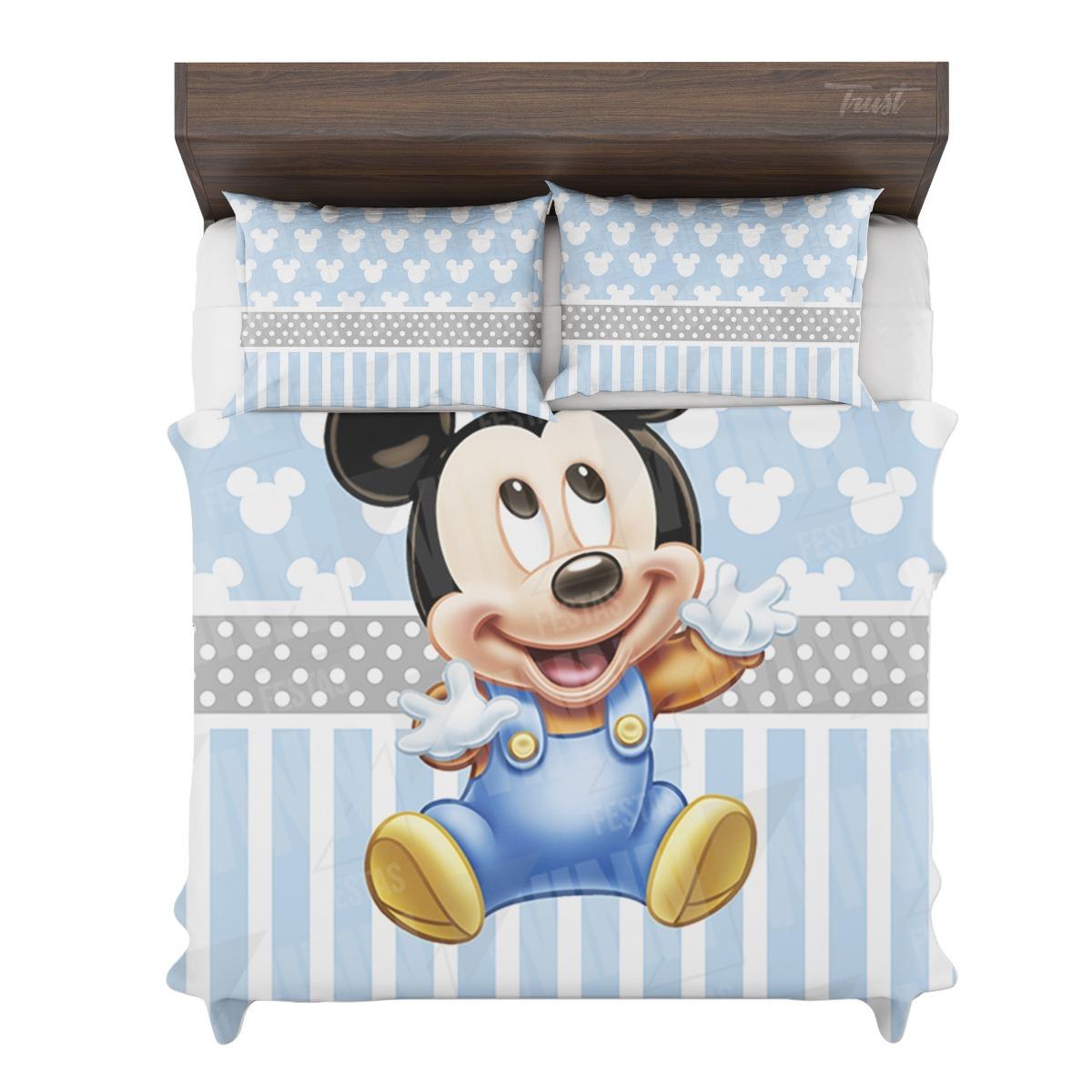 498f19823d jogo cama casal queen size infantil menino baby mickey fofo. Carregando  zoom.