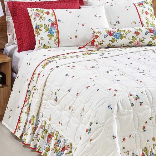 b9b0e717f3 jogo cama fiorella branco queen size 4 peças percal 160 fios. Carregando  zoom.