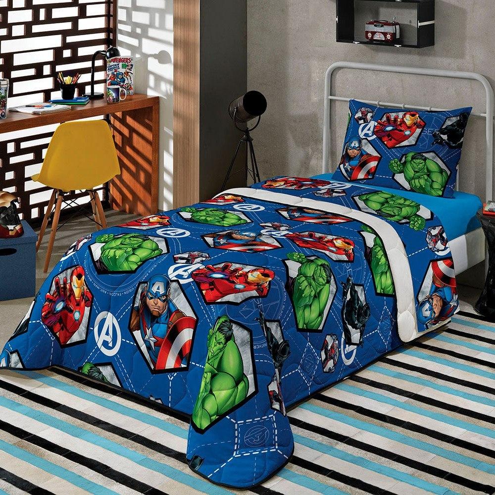 ad3269e83f jogo cama infantil avengers vingadores 2 pçs kids lepper. Carregando zoom.