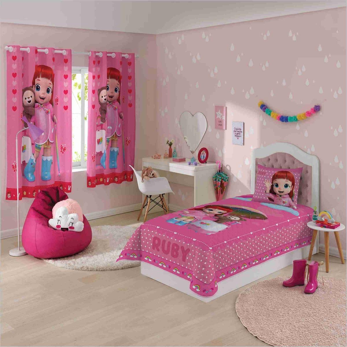 33aaa087ff jogo cama lençol 3 peças infantil menina rainbow ruby lepper. Carregando  zoom.