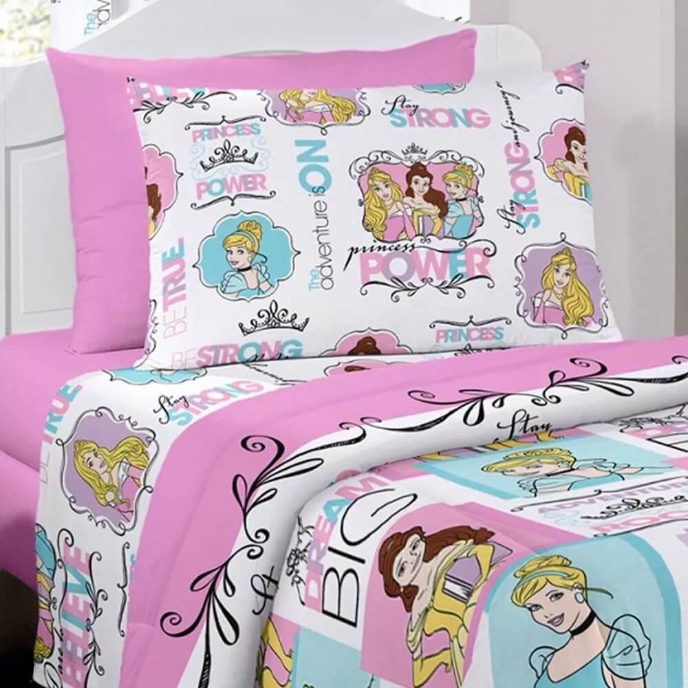 02c2568855 ... 3 peças princesas disney para quarto de menina. Carregando zoom... jogo  cama quarto. Carregando zoom.