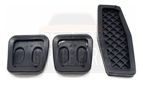 jogo capas pedal acelerador freio embreagem vectra 97 a 2005