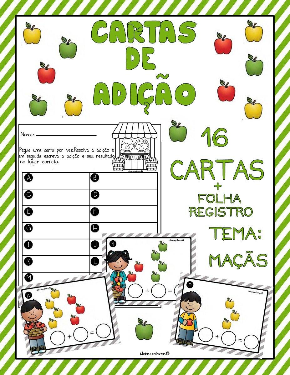 Jogo Cartas De Adicao Alfabetizacao De Matematica Imprimir R