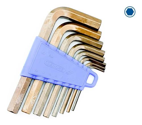 jogo chave allen hexagonal gedore 3 a 14 mm 8 pçs 42-8m