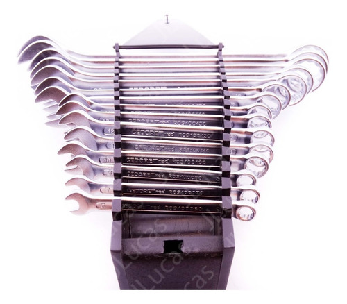 jogo chave combinada gedore red 6 a 32mm 15 peças r09105015