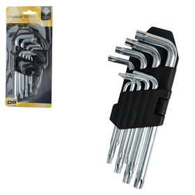 Jogo Chave Torx T10-t50 Com 9 Pçs Ferramentas House Tools