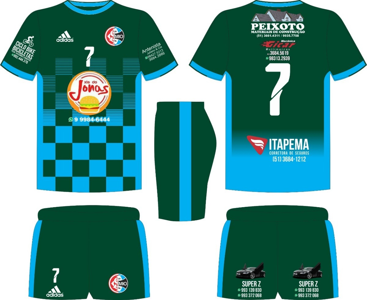 Jogo Com 10 Camisa E 10 Short Sublimaçao Total ! - R  700 d211882354fcf