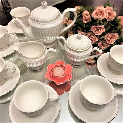 jogo com 15 peças cha accessories boutique porcelain