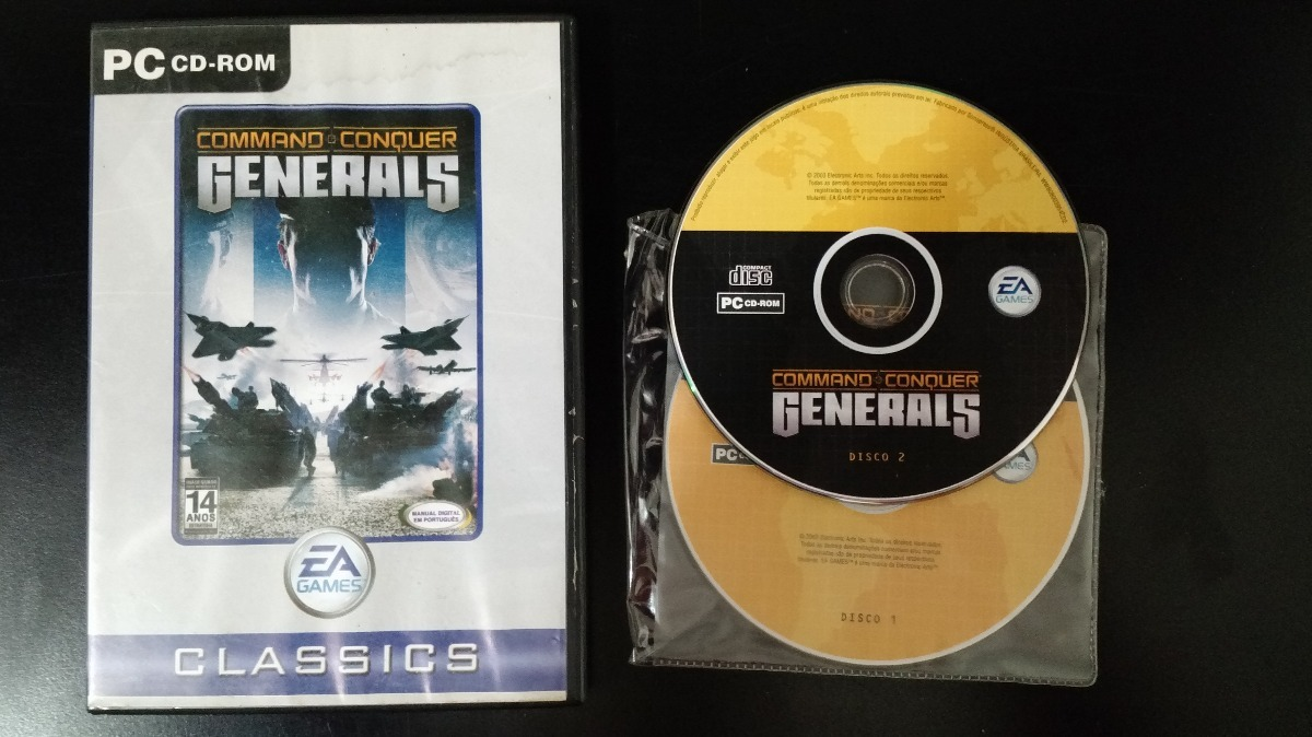 jogo command and conquer generals - pc - original 2 cds. Carregando zoom. 1cf722d474