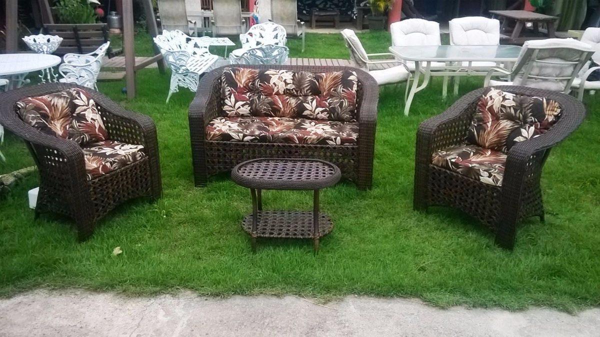 Jogo Conjunto Sofa Para Jardim Sala Piscina Area Externa R