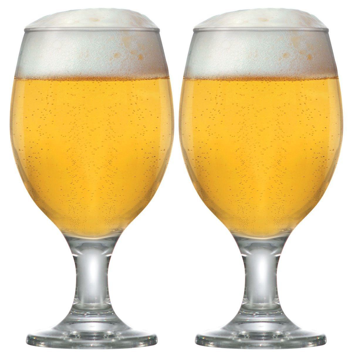 7c1180033 Jogo Copos Taças Cerveja Vidro Conjunto Roma 400ml Kit 2 Pcs - R$ 27 ...