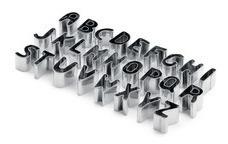 jogo cortador alfabeto grande e médio  em inox