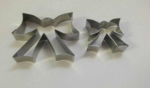 jogo cortador laço inox 2 peças - grande e pequeno