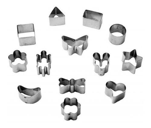 jogo cortador para mini petit fuor kit com 13 unidades inox