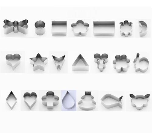 jogo cortador para mini petit fuor kit com 21 unidades inox