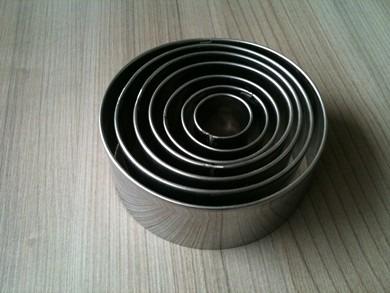 jogo cortador redondo kit com 7 peças em aço inox