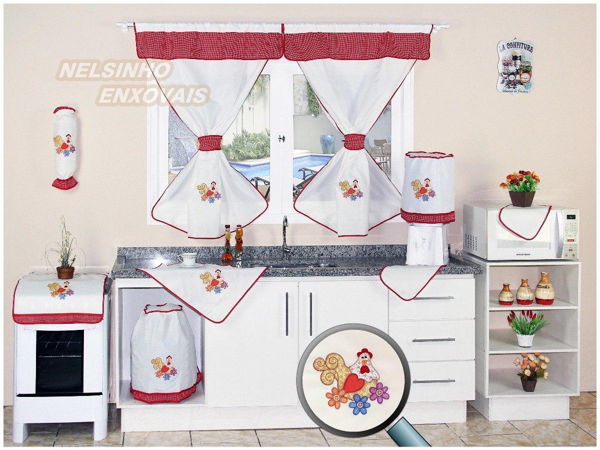 Jogo Cozinha Com Cortina Kit Com 10 P R 94 90 Em Mercado Livre
