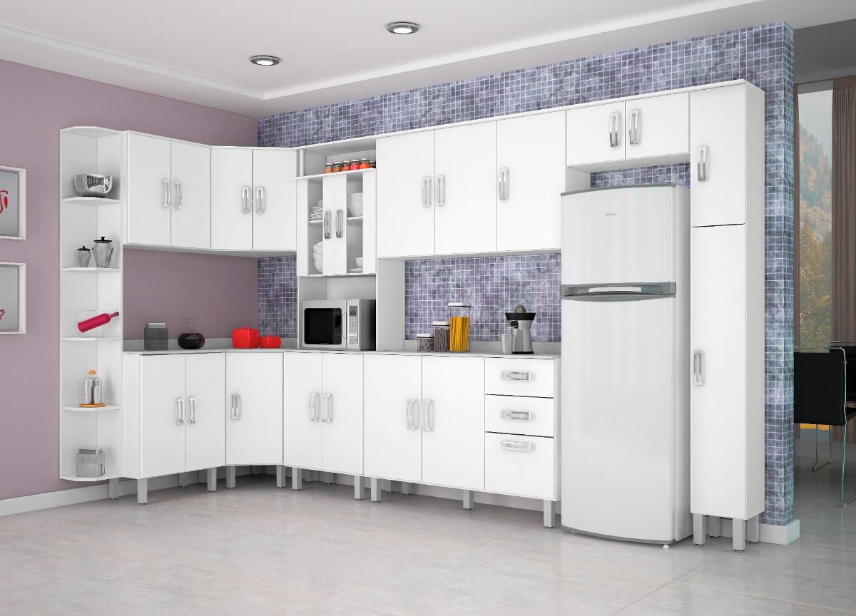 Jogo Cozinha Completa 10 Pe As Balc O Tampo Branco Poliman R