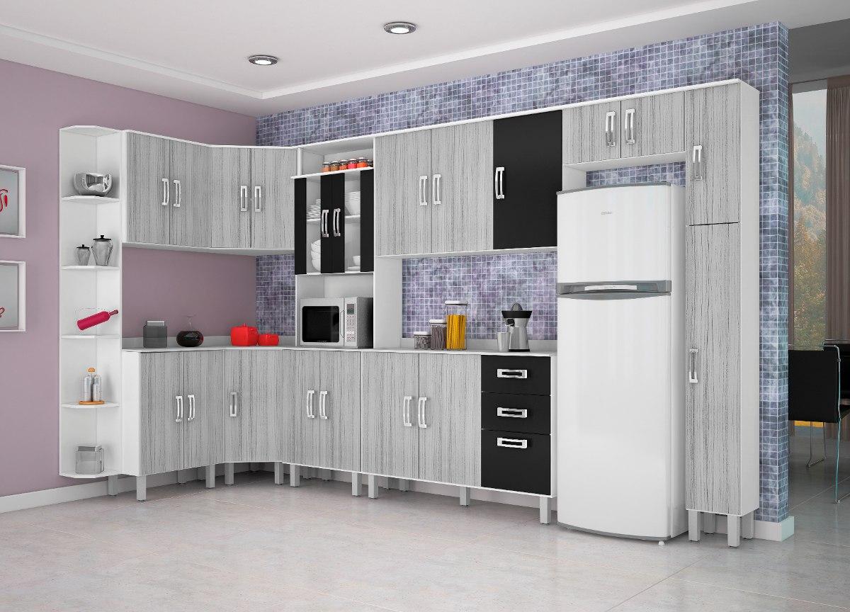 Armario De Cozinha Simples Preto E Branco Oppenau Info