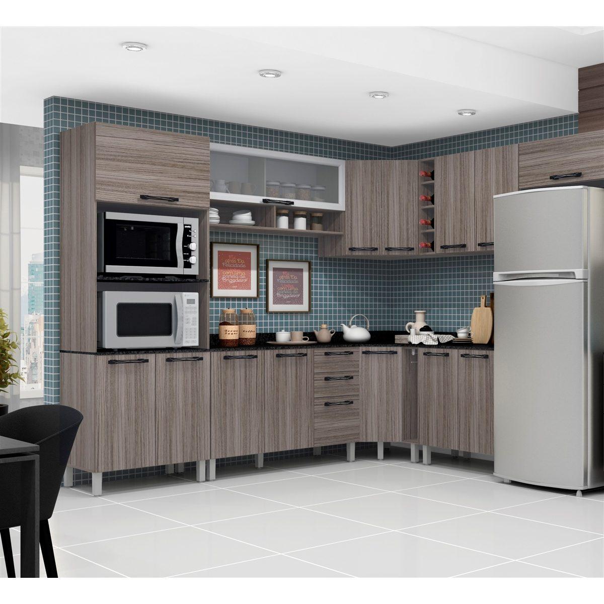 Jogo Cozinha Completa Modulada 10 Pe As Inovare Poliman R 1 579