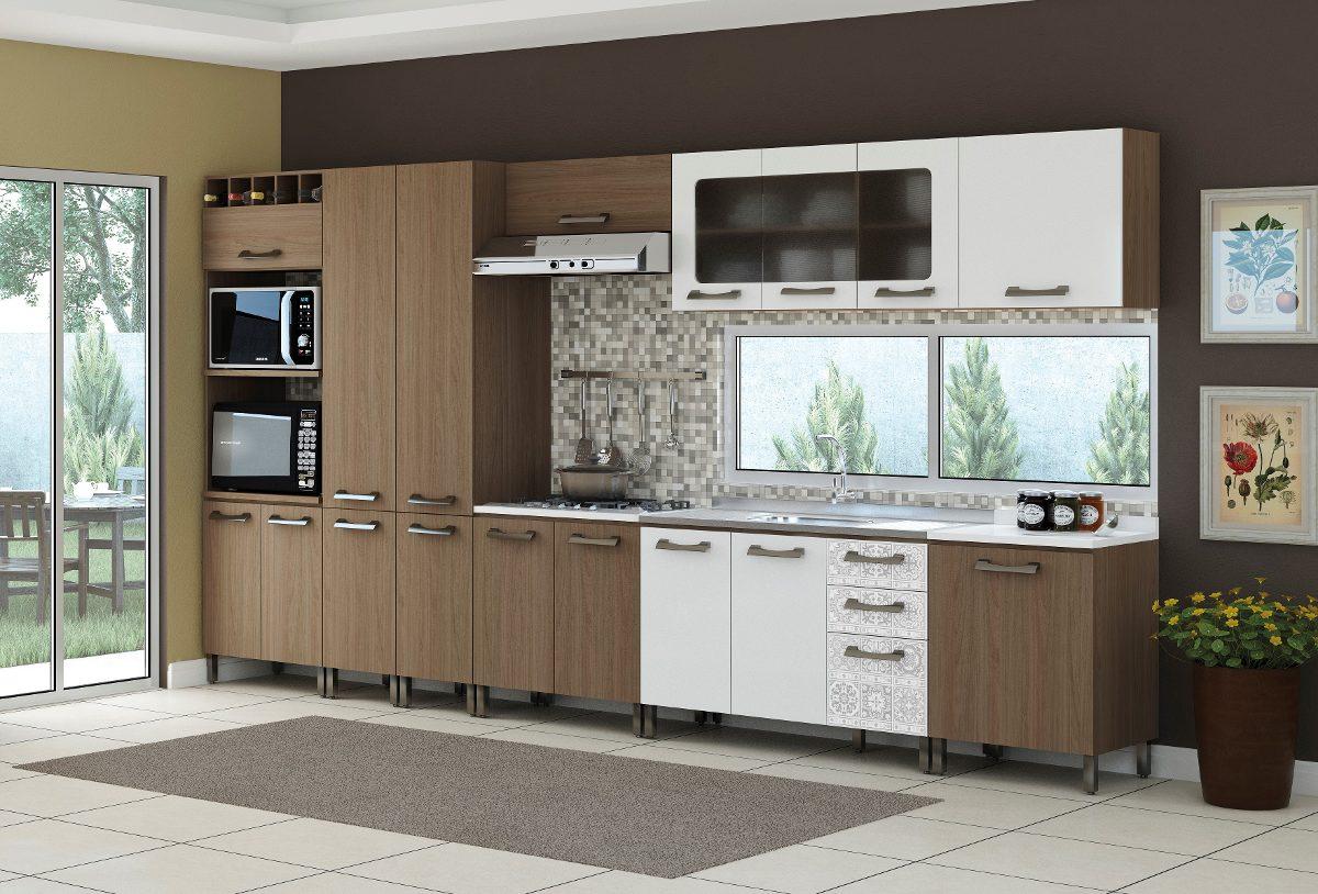 Jogo Cozinha Modulada Completa Balc O 9 Pe As Kappesberg R  ~ Armarios De Cozinha Modulado