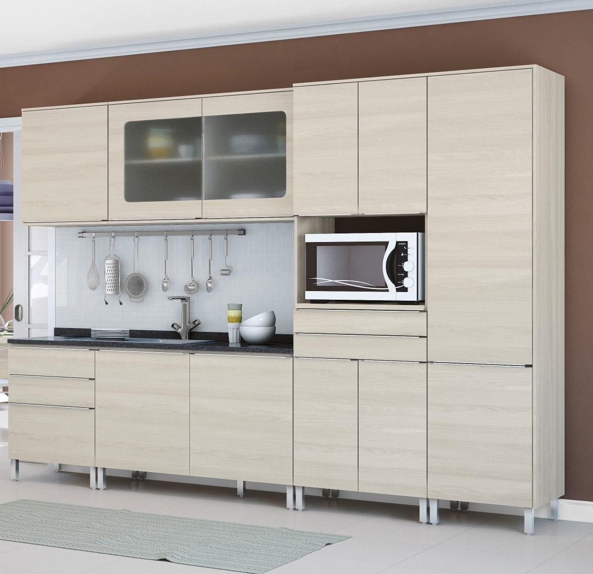 Artesanato Rede Vida ~ Jogo Cozinha Paneleiro Balc u00e3o Armário 6 Peças Kappesberg
