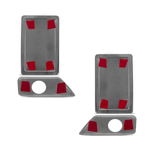 jogo cromado f250 2 aplique capa  retrovisor + 2 maçaneta