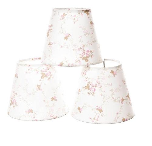 jogo cúpulas avulsas tecido lustre bebê rosa (3 unidades)