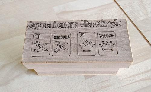 jogo da memória alfabetização em mdf