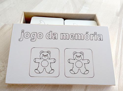 jogo da memoria em mdf
