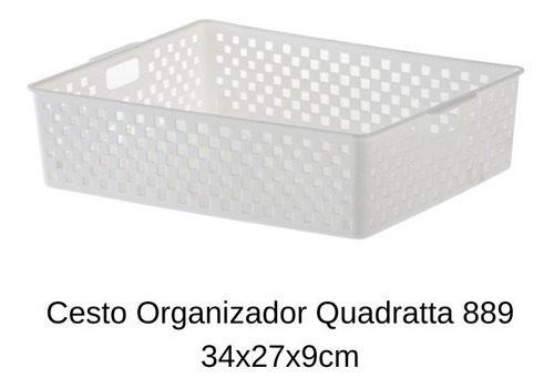 jogo de 10 cestos branco para dispensa quadratta paramount